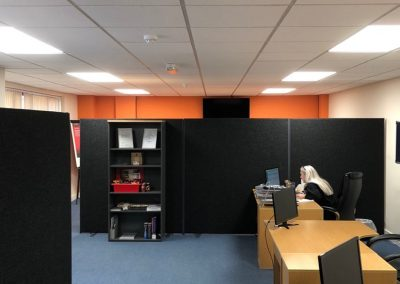 Full office installation including mains distribution